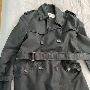 Black coach pea coat